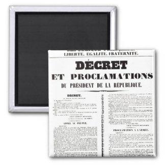 Decree & Proclamation by Napoleon Bonaparte Magnet