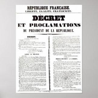 Decree & Proclamation by Napoleon Bonaparte Poster