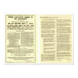 Decreto 6102 5 de abril de 1933 ORIGINAL Impresiones En Lona Estiradas