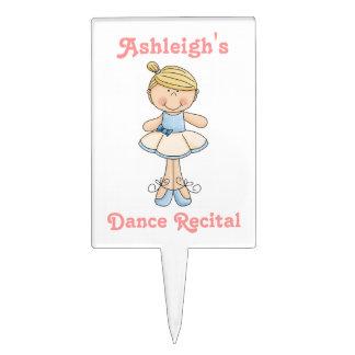 Decreto de la Bailarina-Danza (personalice el nomb Palillos De Tarta