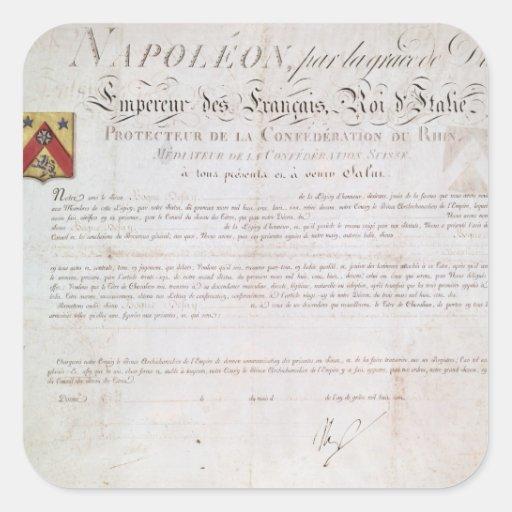 Decreto de la nobleza creado debajo del primer pegatinas