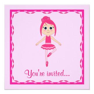 Decreto del ballet: Bailarina del principiante Invitación 13,3 Cm X 13,3cm