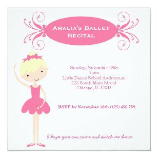 Decreto del ballet invitacion personal