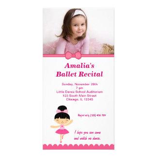 Decreto del ballet tarjeta fotográfica personalizada