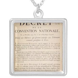 Decreto del convenio nacional colgante cuadrado