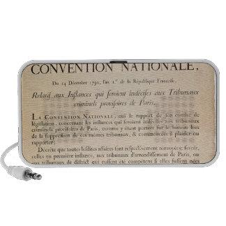 Decreto del convenio nacional sistema de altavoz