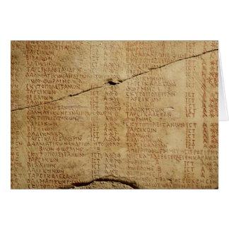 Decreto del emperador Diocletian Tarjeta De Felicitación