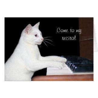 Decreto del piano del gato tarjeta de felicitación