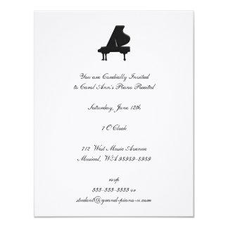 Decreto del piano invitaciones personales