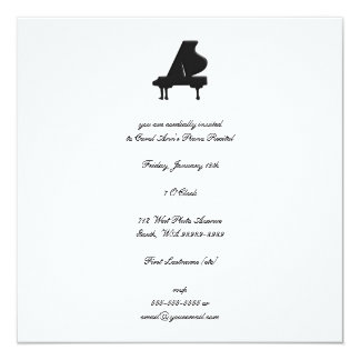 Decreto del piano invitación