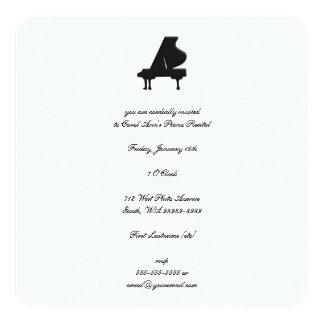 Decreto del piano invitación 13,3 cm x 13,3cm