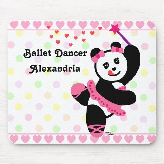 Decreto personalizado del bailarín de ballet de la tapetes de ratones