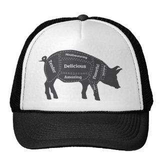 Decriptive Pig Primal Map Trucker Hat
