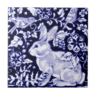 Dedham Blue Rabbit, Classic Blue & White Design Tile