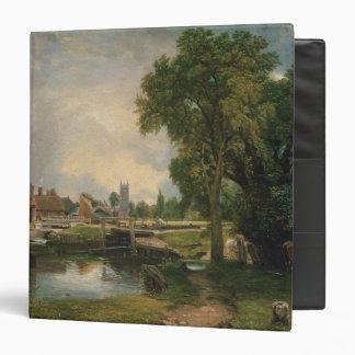 Dedham Lock and Mill, 1820 3 Ring Binder