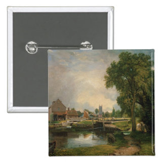 Dedham Lock and Mill, 1820 Pinback Buttons
