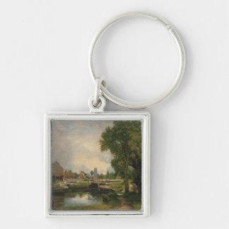 Dedham Lock and Mill, 1820 Keychains