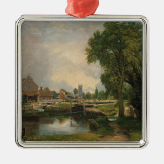 Dedham Lock and Mill, 1820 Metal Ornament