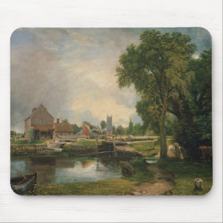 Dedham Lock and Mill, 1820 Mouse Pad