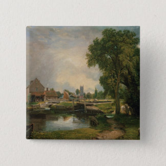 Dedham Lock and Mill, 1820 Pinback Button