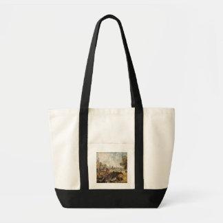 Dedham Lock, c.1820 (oil on canvas laid down on pa Tote Bag