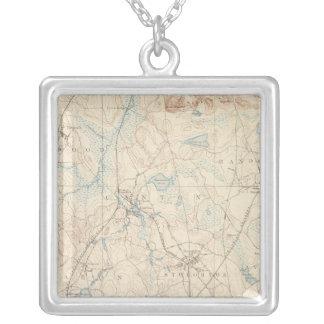 Dedham, Massachusetts Square Pendant Necklace