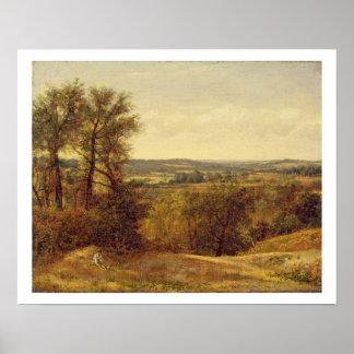 Dedham Vale, c.1802 (oil on canvas) Print