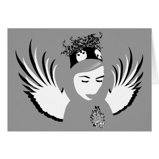dedicación condenada: ángel perdido felicitacion
