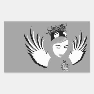dedicación condenada: ángel perdido pegatina rectangular