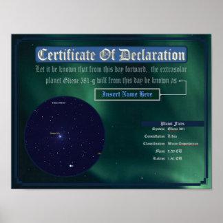 Dedicate an Exoplanet: Gliese 581g Poster