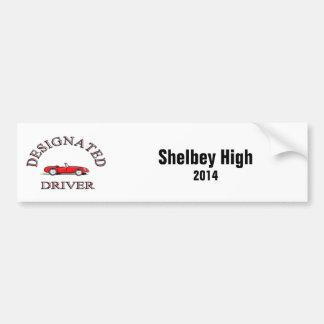 Dedicated Driver High School Bumper Sticker