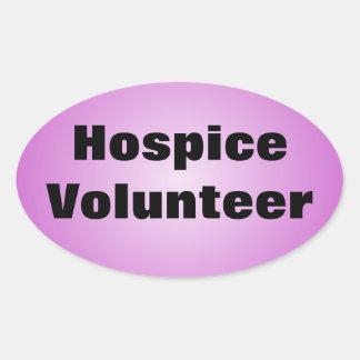 Dedicated Hospice Volunteer Oval Sticker