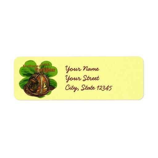 Dedicated Irish Firefighter Label