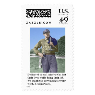 Dedicated to coal miners who lost their lives. postage stamp
