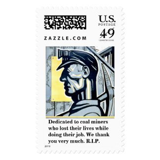 Dedicated to coal miners who lost their lives. postage stamps