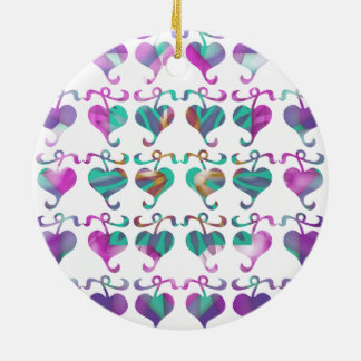Dedicated to MOM : Jewels U Love Double-Sided Ceramic Round Christmas Ornament
