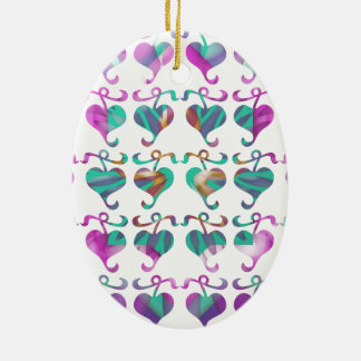 Dedicated to MOM : Jewels U Love Double-Sided Oval Ceramic Christmas Ornament