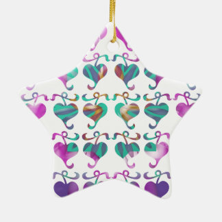 Dedicated to MOM : Jewels U Love Double-Sided Star Ceramic Christmas Ornament