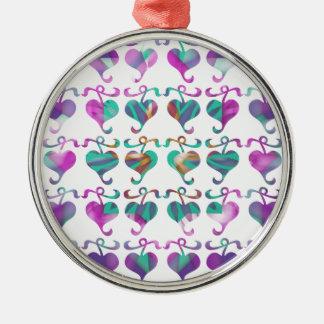 Dedicated to MOM : Jewels U Love Round Metal Christmas Ornament