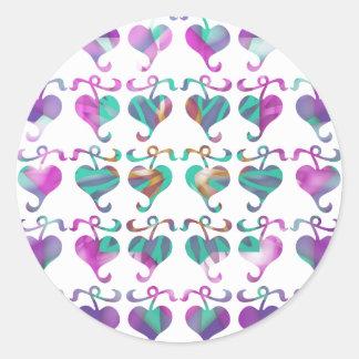 Dedicated to MOM : Jewels U Love Round Stickers