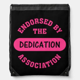 Dedication Association Endorsement Drawstring Backpack