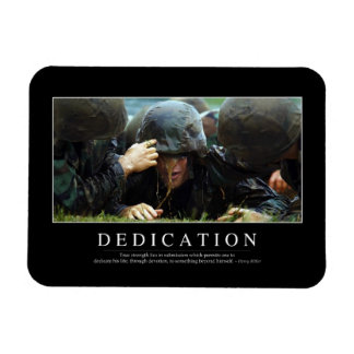 Dedication: Inspirational Quote Magnet