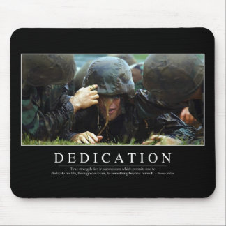 Dedication: Inspirational Quote Mouse Pad