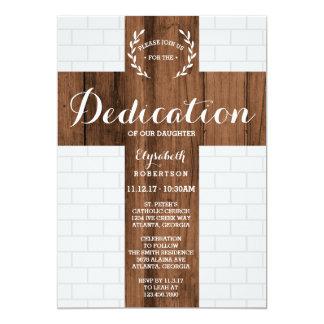 Dedication Invitation, Cross, Baptism, Christening Card