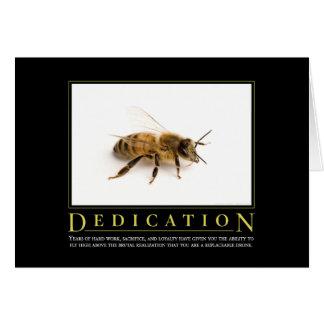 Dedication Motivational Parody Card
