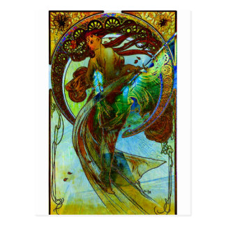 DEDICATION ~ MUCHA ETERNAL THROUGH HIS WORKS 3 POSTCARD