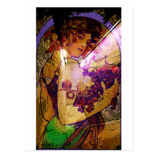 DEDICATION ~ MUCHA ETERNAL THROUGH HIS WORKS POSTCARD