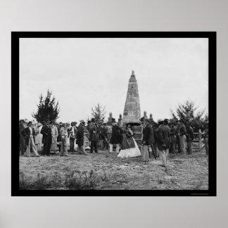 Dedication of the Battle of Bull Run Monument 1865 Poster