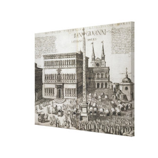 Dedication of the Obelisk in front of the Basilica Canvas Print