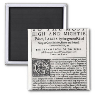 Dedication page in 'The Holy Bible' 2 Inch Square Magnet